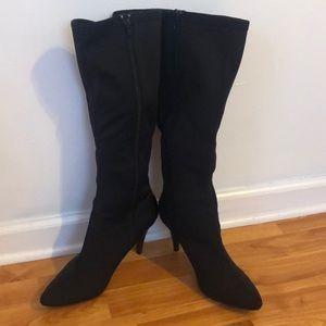 Tall black boot